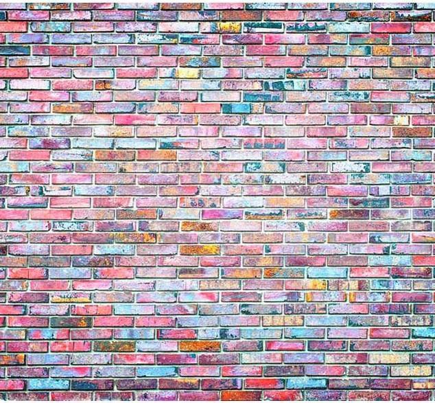 fond de scène briques colorées