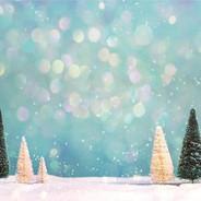 thème hiver avec sapins