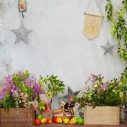 thème fleurs et fruits