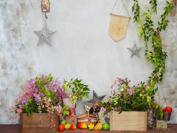 fond de scène fleurs et fruits