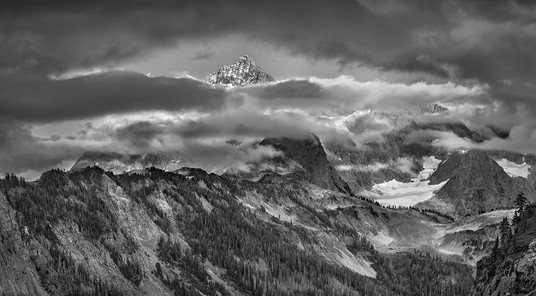 Mt. Shuksan, Sunset, Clearing Storm