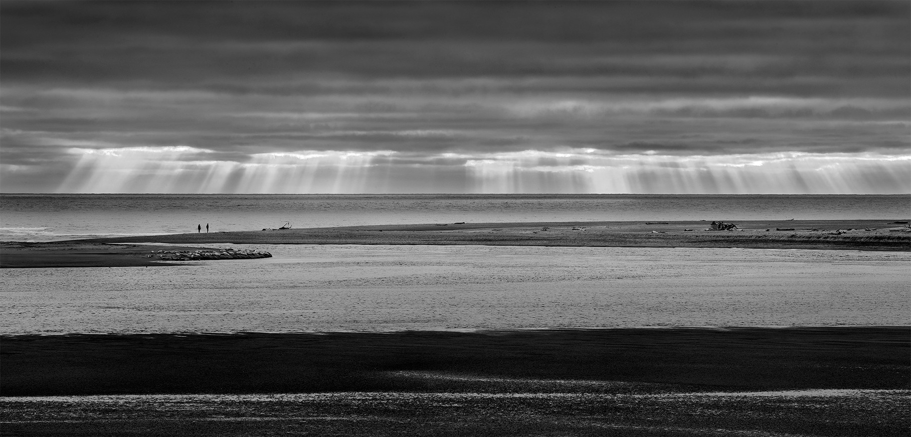 God Rays, Siletz Bay National Wildlife Refuge