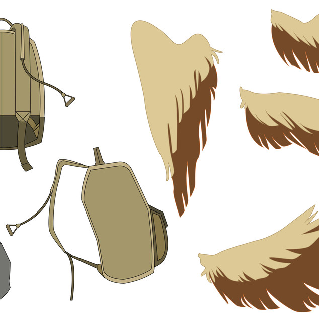 Vector Wings and Bag