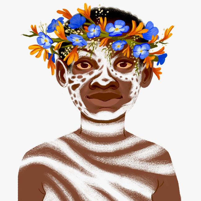 Karo Tribe Face Painting