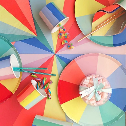 Colour Wheel Plates