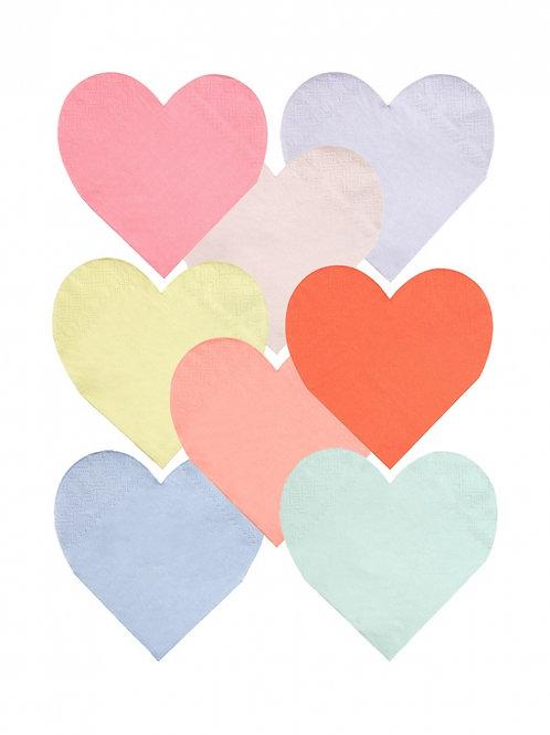 Pastel Heart Napkins