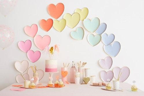 Pastel Heart Plates
