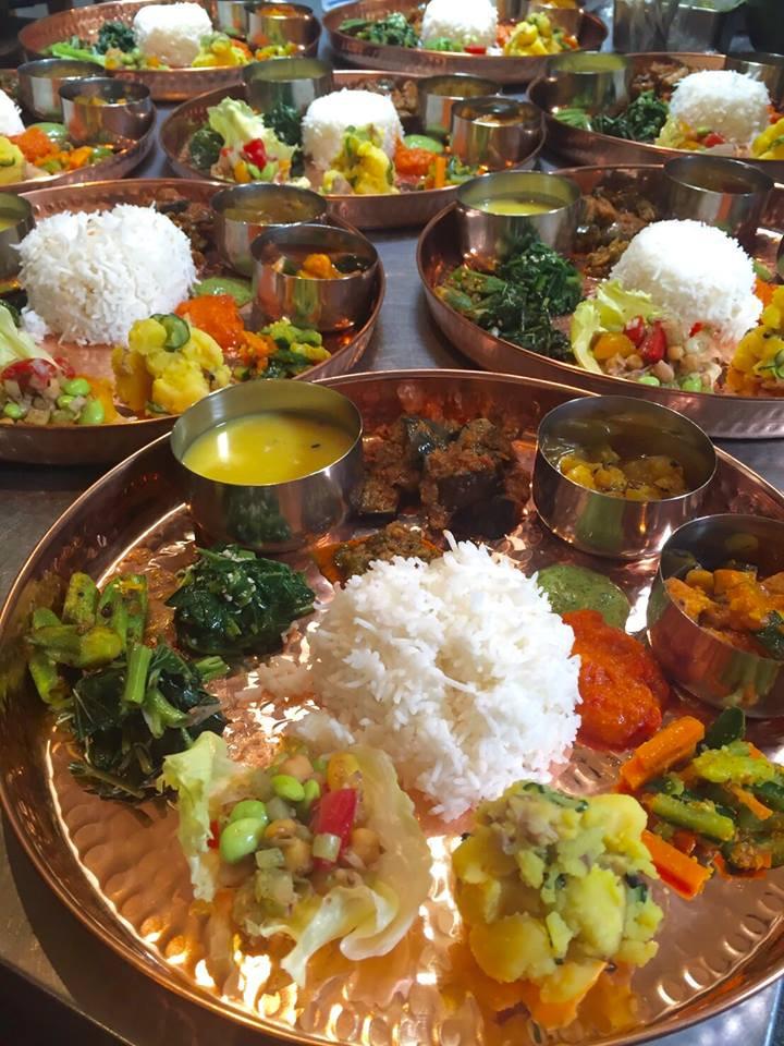 """今年もやります!スパイシーなVEGAN定食。 〜その2:ネパールのダルバート〜  昨年ご好評いただいた""""Awatama Spice Day""""。3ヶ月連続でネパール、南インド、北インドと各地の定食をお楽しみいただきました。 今年は9月にぎゅっと圧縮して開催いたします!  その1の9/3 インド ミールス&ターリーに続き、その2は9/18ネパール ダルバートの日  ネパールの国民食、ダルバートをあわたま仕様のスペシャルバージョンでご提供いたします♪   オーガニックスパイスと自然栽培・オーガニック野菜をふんだんに使用したスペシャルなVEGANスパイシー定食を是非お楽しみください。  ーーーーーーーーーーーーーーーーーーーー  Date: 2017年9月18日(月・祝) Time: 昼の部 12:00 ~ 14:00 / 夜の部 18:00 ~ 20:00 Price: 3,800 yen Place: あわたま  群馬県前橋市龍蔵寺町 313-12 Reserve: 027-233-2517 or info@awatama.com  (完全予約制)  ※ お電話、または、メールにてご予約ください。 ※メールでご予約の場合は①代表者様のお名前 ②ご予約の日時 ③ご予約人数 ④ご連絡先 をご明記ください。 ※ お席や食材をご用意してお待ちしておりますので、キャンセルの場合は2日前(9月1日)の17:00までにご連絡ください。以降のキャンセルの場合、キャンセル料金を頂戴いたします。"""