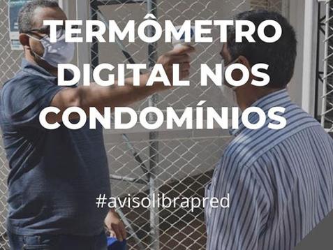 Termômetro digital nos condomínios