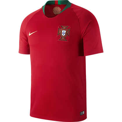Nike Official Portugal Home Stadium Jersey