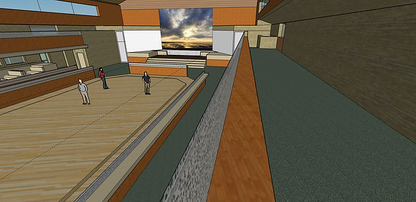 Heartland II Final Mezzanine Stage View.