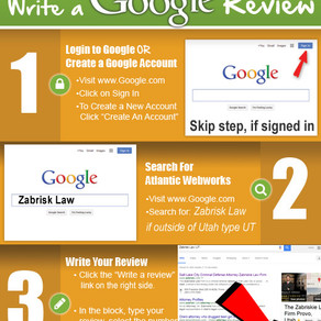 3-steps: Give Us A Google Review