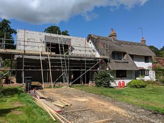 Old Redford Cottage construction progress