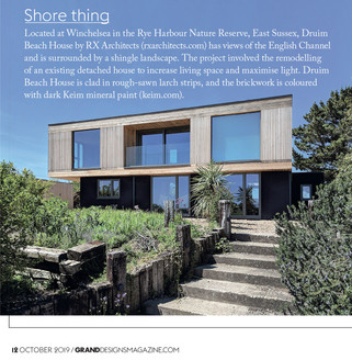 Druim featured in Grand Designs Magazine, October 2019 issue