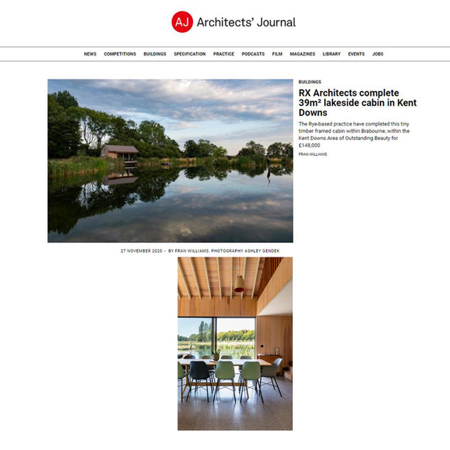 Lake Cabin Featured In Architecture Journals