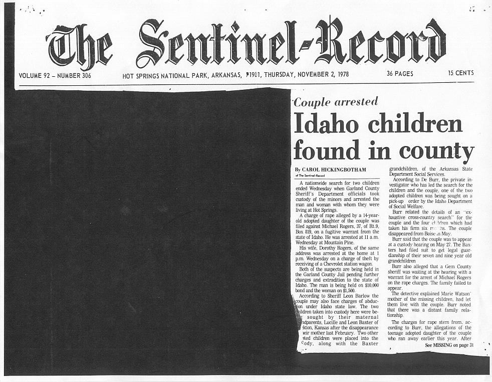 Idaho children found in county