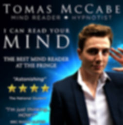 Magician Mind Reader show poster london