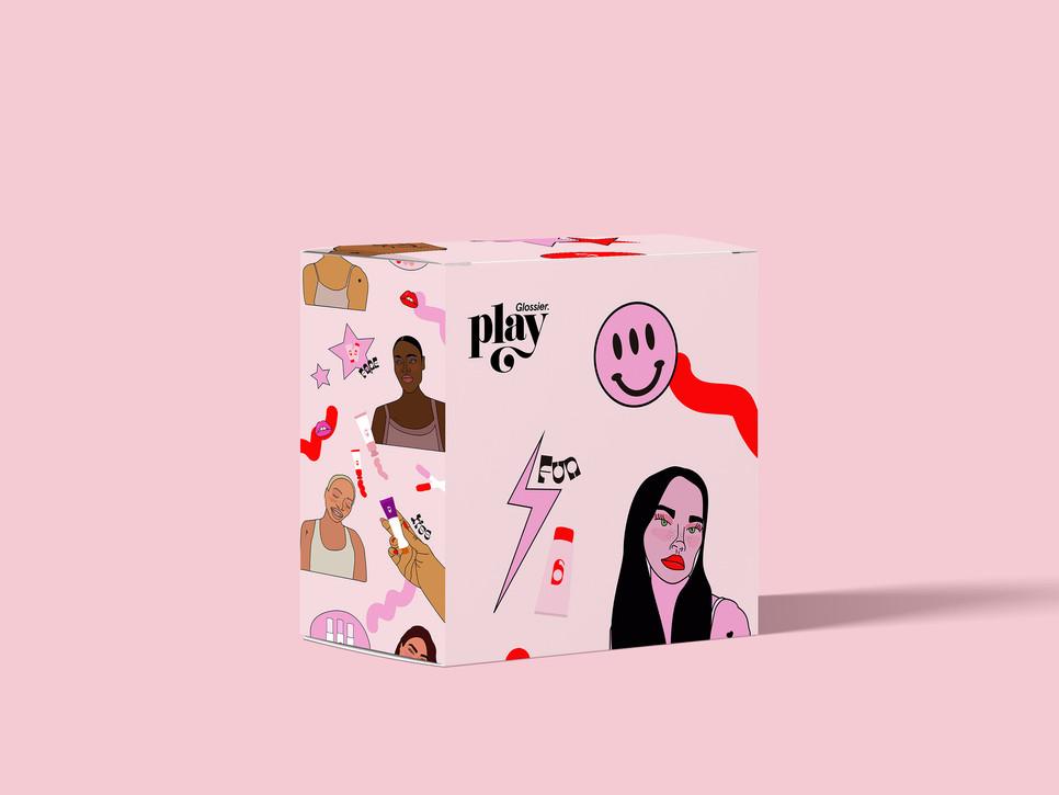 Glossier box packaging