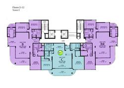 Tower I - Floor Plate  floors 2-12