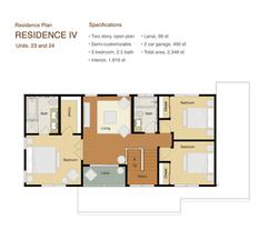 Residence 4 Floor plan 2nd. floor