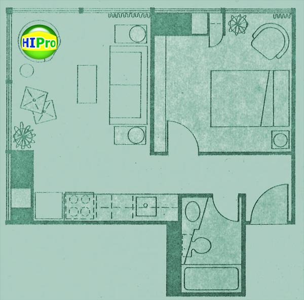 Century Center unit S1 1 Bedroom