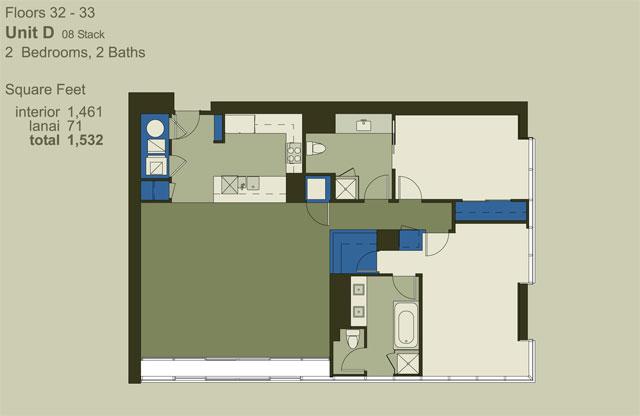 Floor 32-33 Unit D