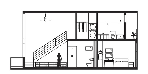 Hau'oli Loft Elevation