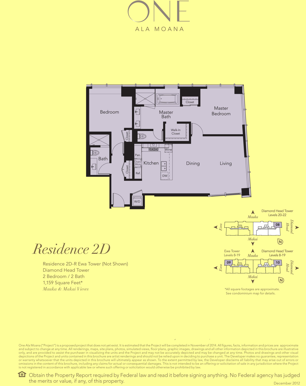 ONE Ala Moana Blvd. Residence 2D