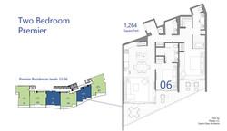 Premier - 2 Bedroom floor plans