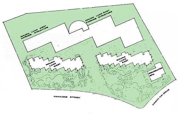 Mauna Luan site map