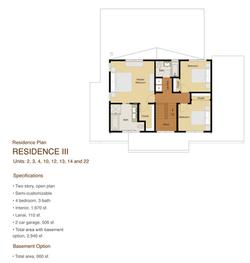 Residence 3 - Floor plan 2nd floor