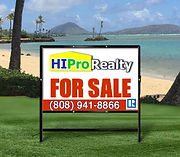 HI Pro Realty for sale sign - Honolulu, Hawaii