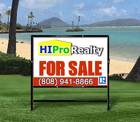 HI Pro Realty for sale sign - Honolulu, Hawaii