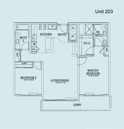 Floor Plan Unit 203