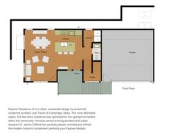 Residence 4 Floor plan 1st floor