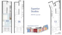 Superior - Studio floorplans