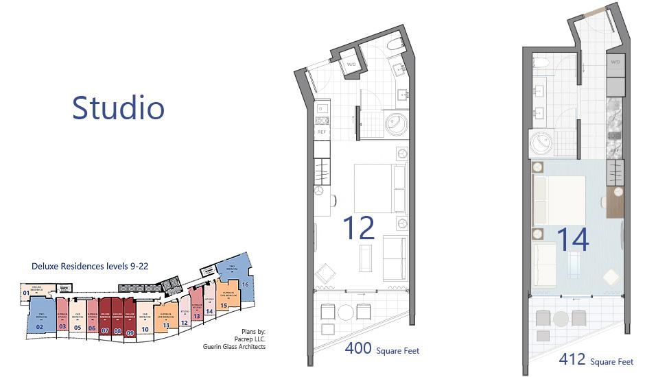 Deluxe - Studio floorplans
