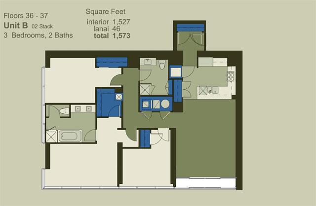 Floor 36-37 Unit B