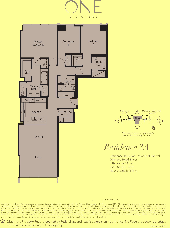 ONE Ala Moana Blvd. Penthouses 3A