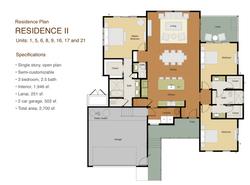 Kapiwai - Residence 2 Floor plan