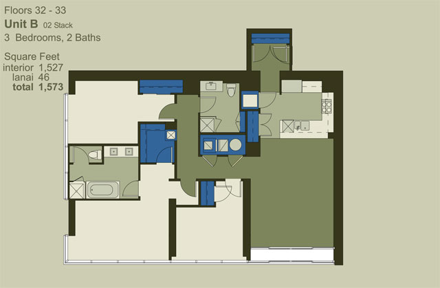 Floor 32-33 Unit B