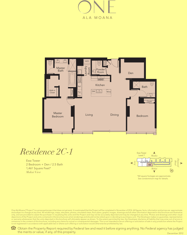 ONE Ala Moana Blvd. Residenc 2C-1