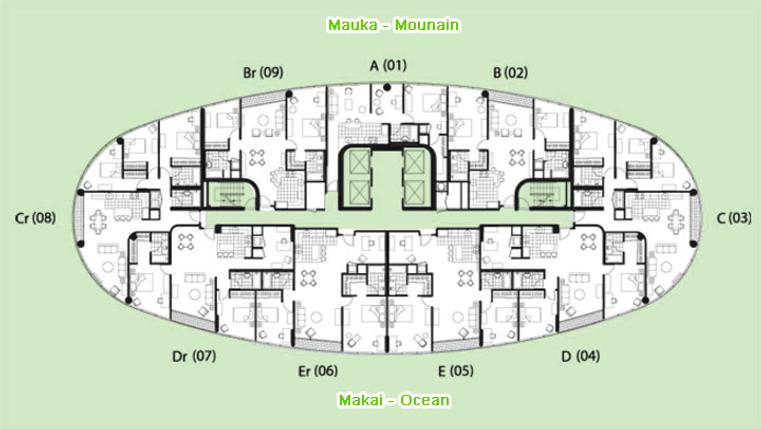 Moana Pacific 1288 Ala Moana Blvd. Honolulu Hawai'i 96814  Ala Moana Condos and Penthouses For Sale HI Pro Realty LLC (808) 941-8866