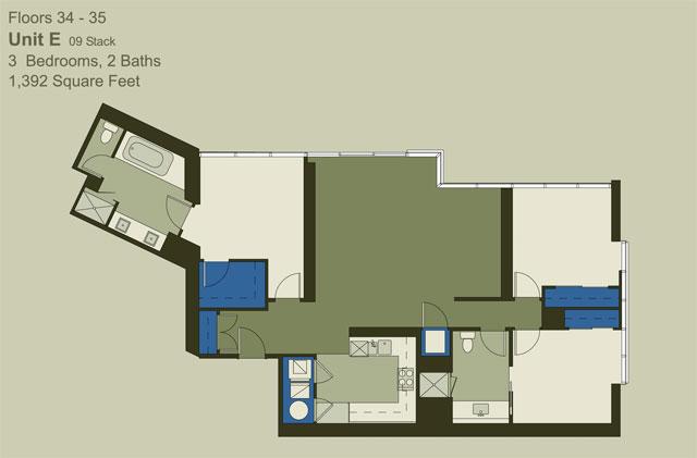 Floor 34-35 Unit E