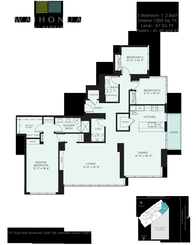 Waihonua Floor Plan - R