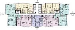 Penthouse Floor Plate Floors 44-45