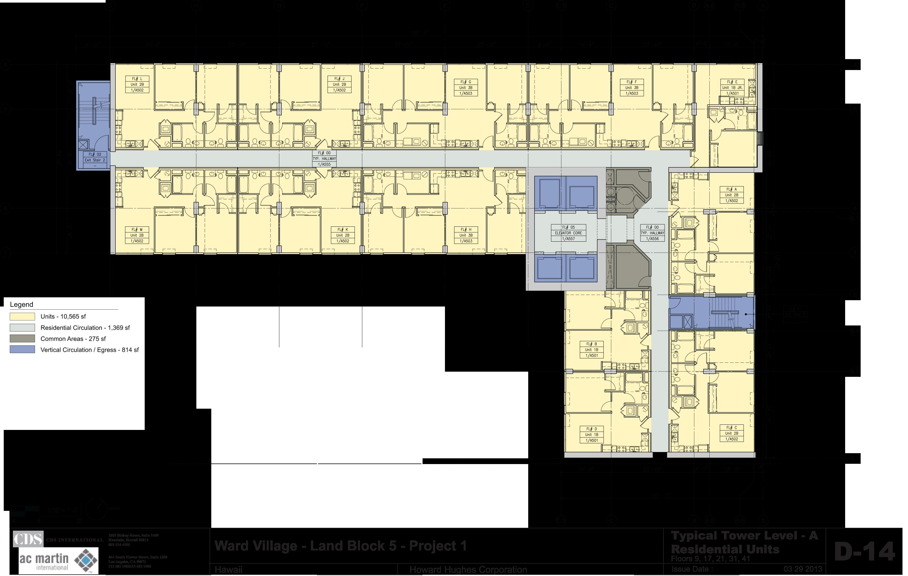 A Floors - 9,17,21,31,41
