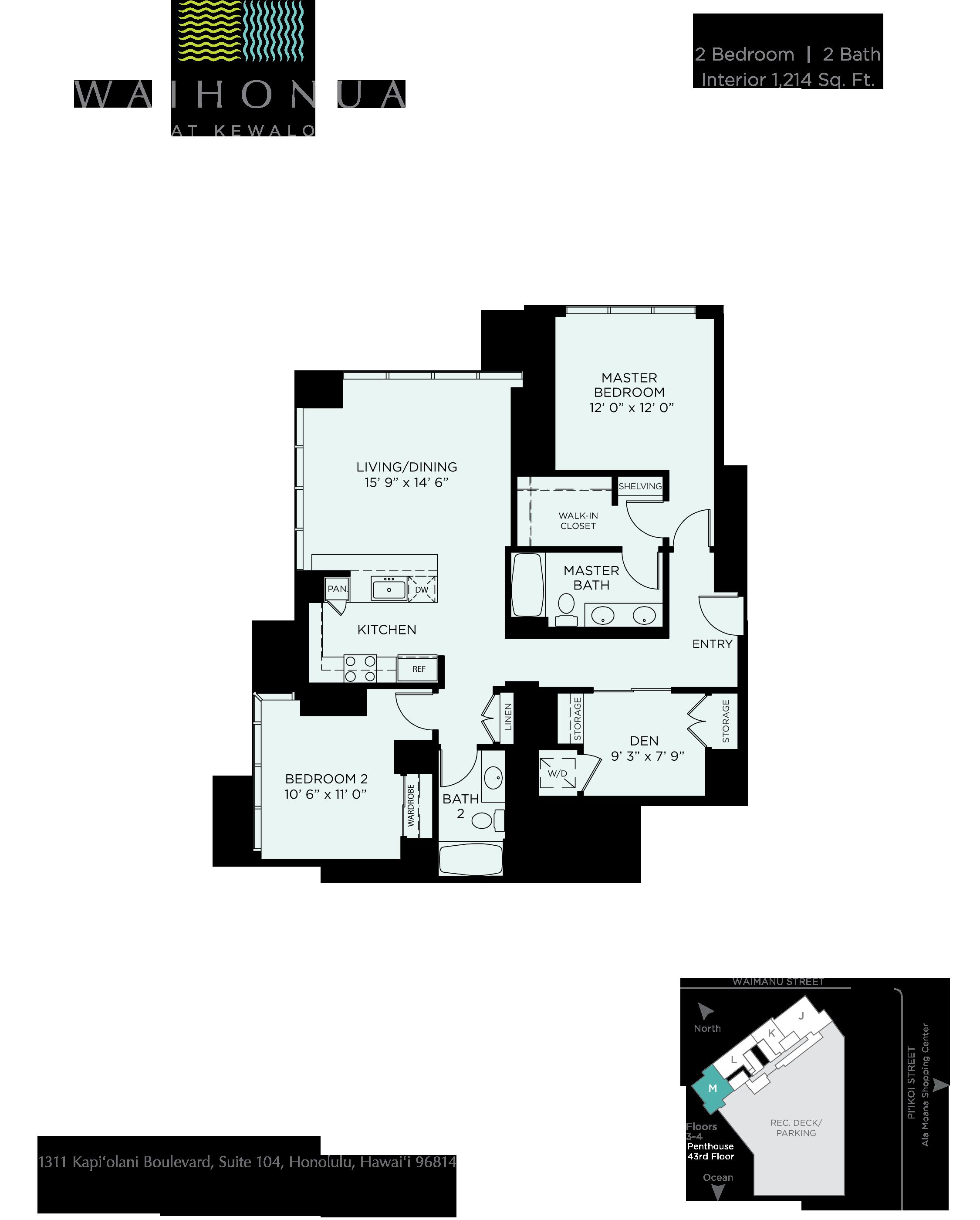 Waihonua Floor Plan M