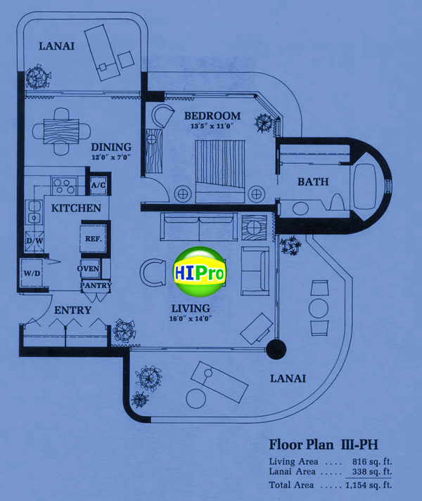 Canterbury Place Floor Plan III-PH
