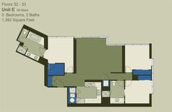 Floor 32-33 Unit E